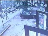 Авария бензовоза. Видео с камеры наблюдения